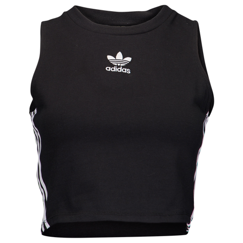 adidas Originals Adicolor Crop Tank - Women\u0027s - Black / White