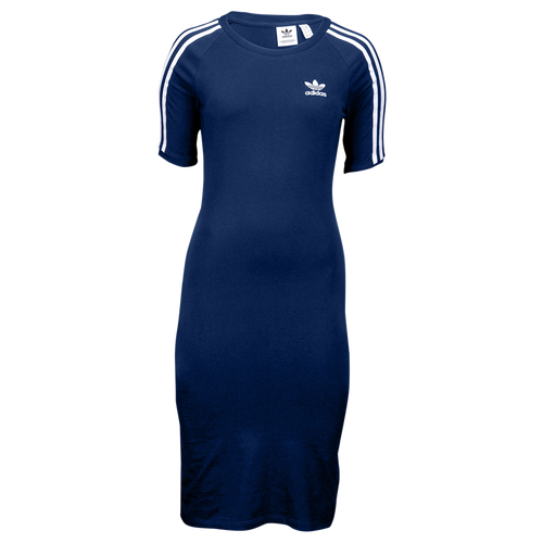 adidas Originals Adicolor 3-Stripe Dress - Women's Casual - Navy/White CY4749