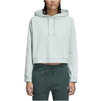 Adidas Originals Adicolor 3 Stripe Cropped Hoodie by Lady Foot Locker