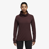 adidas Fleece Transitional Cover Up - Women's - Maroon