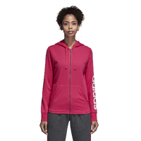 adidas Athletics Linear Full Zip Hoodie - Women's - Pink