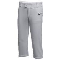 Nike Team Core Softball Pants - Girls' Grade School - Grey