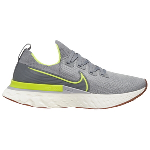 Nike React Infinity Run Flyknit - Men's - Particle Grey/Volt/Wolf Grey/Sail