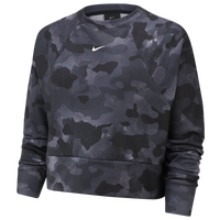 Nike One Rebel Camo Crew - Women's - Grey / Black