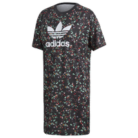 adidas Originals Fashion League T-Shirt Dress - Women's - Black / Multicolor