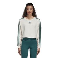 adidas Originals Adibreak Cropped Sweater - Women's - White / Green