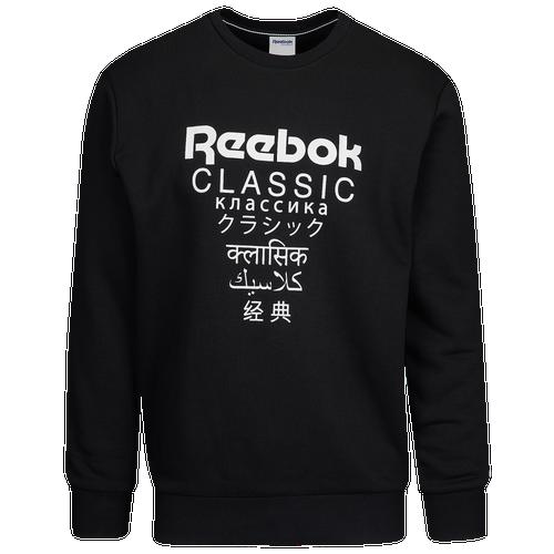 037bd738 Reebok GP Fleece Crew - Men's - Casual - Clothing - Black/White