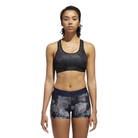 adidas ALPHASKIN Sports Bra - Women's - All Black / Black