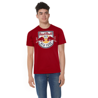 adidas MLS Logo Squad Primary T-Shirt - Men's - Red Bull New York - Red