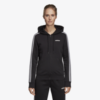adidas Athletics 3-Stripes Cotton Full-Zip Hoodie - Women's - Black