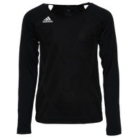 adidas Team Quickset L/S Jersey - Youth - Black