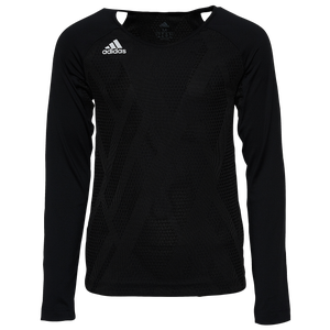 adidas Team Quickset L/S Jersey - Youth - Black/White