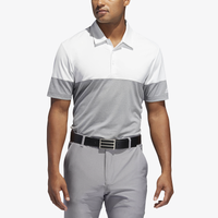 adidas Ultimate Heathered Blocked Golf Polo - Men's - Grey / White