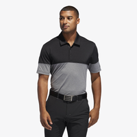 adidas Ultimate Heathered Blocked Golf Polo - Men's - Grey / Black