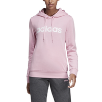 adidas Athletics Essential Linear Pullover Hoodie - Women's - Pink