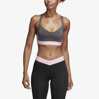 adidas All Me 3-Stripe Bra - Women's - Grey