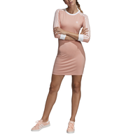 adidas Originals New Adicolor 3-Stripe Dress - Women's - Pink