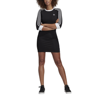 adidas Originals New Adicolor 3-Stripe Dress - Women's - Black