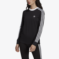adidas Originals Adicolor 3 Stripe Cropped Hoodie - Women's - Black
