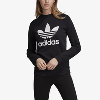 adidas Originals Adicolor Trefoil Crew - Women's - Black