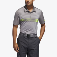 adidas Ultimate 3-Stripe Heather Gradient Polo - Men's - Grey