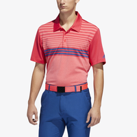 adidas Ultimate 3-Stripe Heather Gradient Polo - Men's - Pink / Red