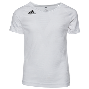 adidas Team Quickset S/S Jersey - Youth - White/White/Black