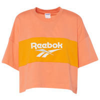 Reebok Classic Vector Cropped T-Shirt - Women's - Orange / Gold