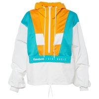 Reebok Gigi Colorblocked Track Jacket - Women's - White / Gold