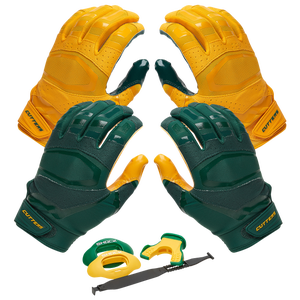 Cutters Rev Pro 3.0 Solid Flip Combo Pack - Dark Green/Gold