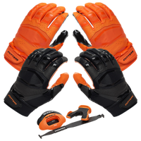 Cutters Rev Pro 3.0 Solid Flip Combo Pack - Orange / Black