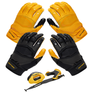 Cutters Rev Pro 3.0 Solid Flip Combo Pack - Gold/Black