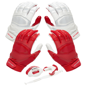 Cutters Rev Pro 3.0 Solid Flip Combo Pack - Red/White