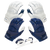 Navy/White | Includes 2 Sets of Receiver Gloves and Mouthguard