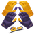 Purple/Gold | Includes 2 Sets of Receiver Gloves and Mouthguard