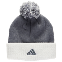 adidas Team Cuffed Knit Beanie - Grey / White