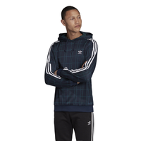 adidas Originals Tartan Hoodie - Men's - Navy