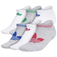 adidas Originals 6 Pack Original No Show Socks - Women's - White / Grey