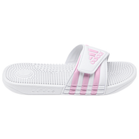 adidas Adissage Slide - Girls' Preschool - White