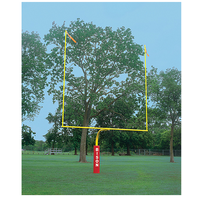 "Bison 4 1/2"" Gooseneck Goalposts - Yellow / Yellow"