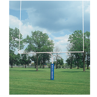 "Bison 4 1/2"" Gooseneck Goalposts - White / White"