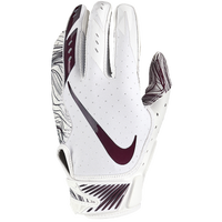 Nike Vapor Jet 5.0 Football Gloves - Men's - White / Maroon