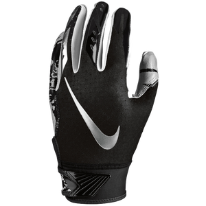 Nike Vapor Jet 5.0 Receiver Gloves - Boys' Grade School - Black/Black/Chrome