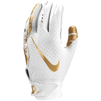 Nike Vapor Jet 5.0 Receiver Gloves - Boys' Grade School - White / Gold