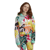 adidas Originals Cropped Hoodie - Women's - Multicolor