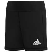 "adidas Team Alphaskin 4"" Shorts - Girls' Grade School - Black"