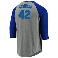 5a9476811 Majestic MLB Cooperstown Player 3/4 T-Shirt - Men's - Jackie Robinson -