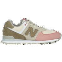 New Balance 574 Classic - Boys\u0027 Grade School - Off-White / Pink