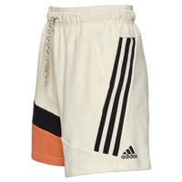 adidas 3 Stripe Tape Shorts - Men's - Off-White