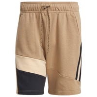 adidas 3 Stripe Tape Shorts - Men's - Tan